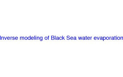 Inverse modeling of Black Sea water evaporation